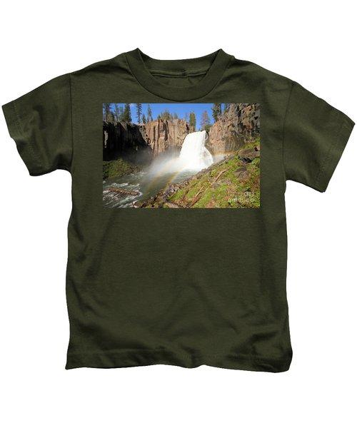 Double Rainbow Falls Kids T-Shirt