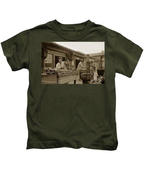 Dungeness Crabs At Fisherman's Wharf At San Francisco California. Circa 1935 Kids T-Shirt
