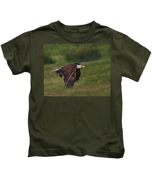 Eagle With Prey Kids T-Shirt