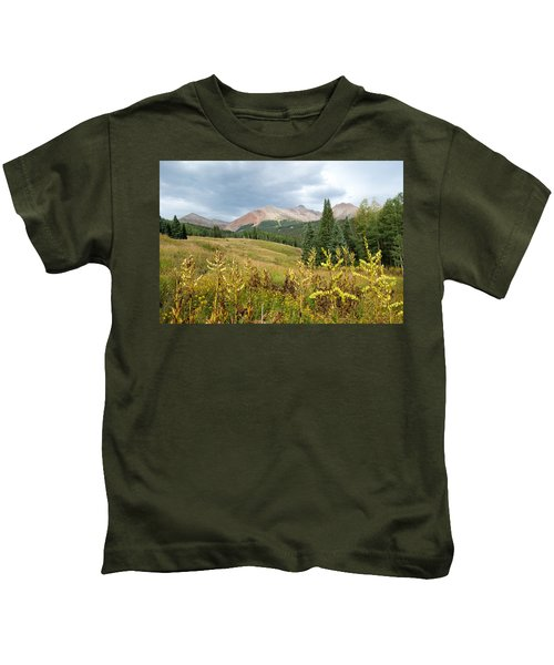 Early Autumn In The San Juans -  Mount Wilson And Wilson Peak Kids T-Shirt