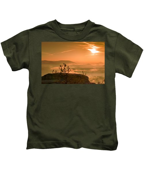 Early Morning On The Lilienstein Kids T-Shirt