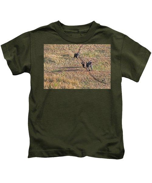 Early Morning Stroll Kids T-Shirt