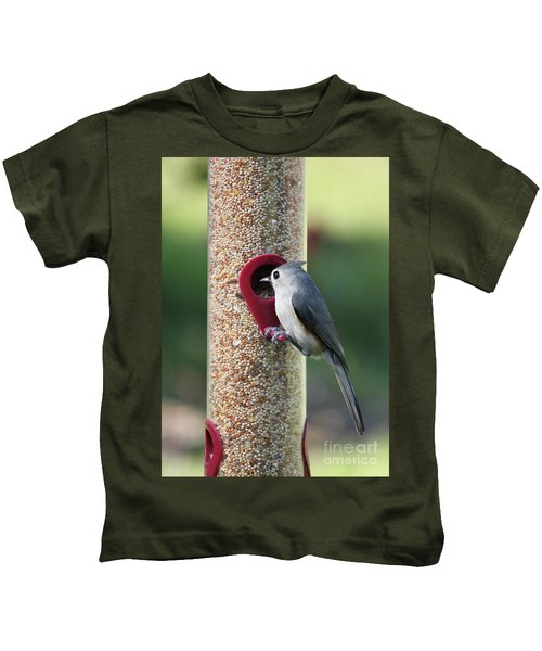 Eastern Tufted Titmouse  Kids T-Shirt