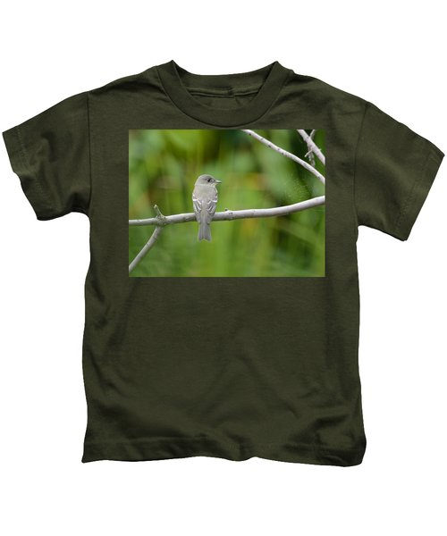 Eastern Wood Pewee Kids T-Shirt