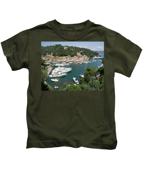 Elevated View Of The Portofino Kids T-Shirt