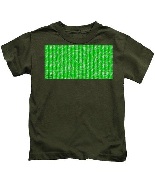Emerald Swirl. H A Kids T-Shirt