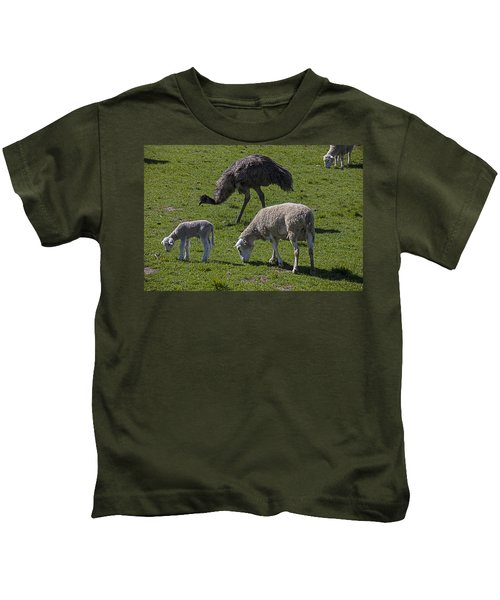 Emu And Sheep Kids T-Shirt