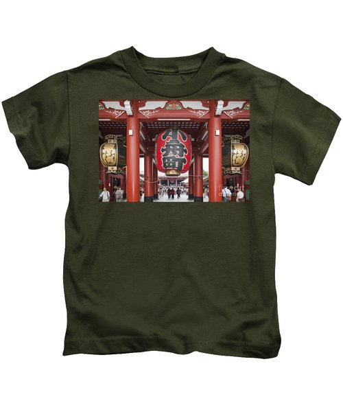 Entrance To Senso-ji Temple Kids T-Shirt