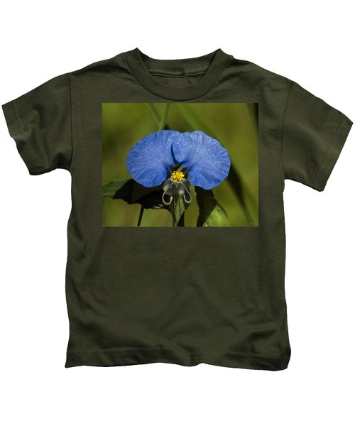 Erect Dayflower  Commelina Erecta Dsmf096 Kids T-Shirt