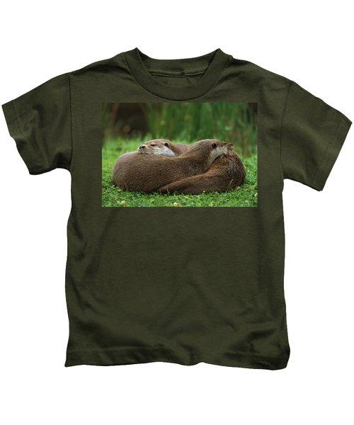 European River Otter Lutra Lutra Kids T-Shirt