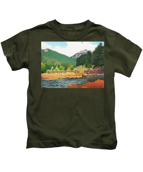 Evergreen Lake Spring Kids T-Shirt