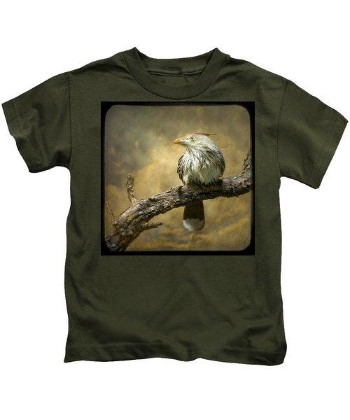 Exotic Bird - Guira Cuckoo Bird Kids T-Shirt by Gary Heller