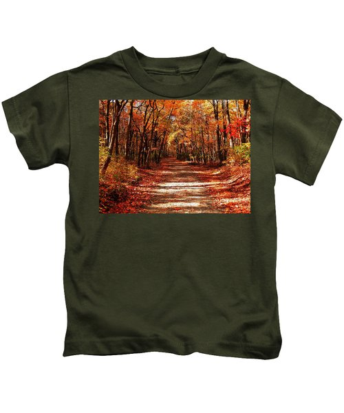 Fall At Cheesequake Kids T-Shirt