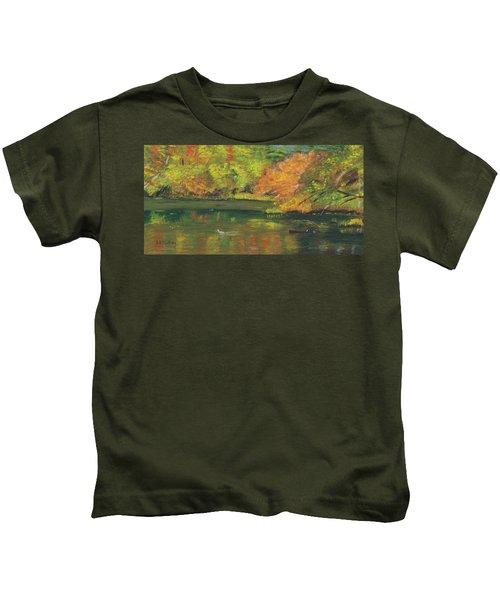 Fall At Dorrs Pond Kids T-Shirt