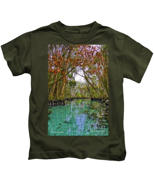 Fall Colors Along Three Sisters Spring Run Kids T-Shirt