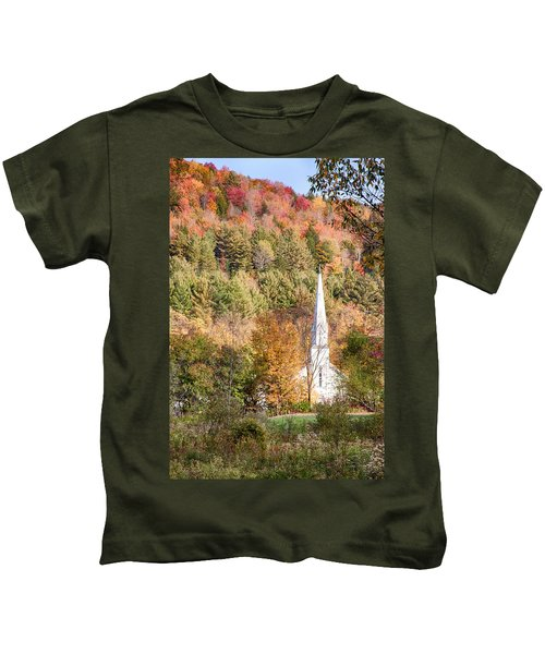Fall Colors Over Vermont Church Kids T-Shirt