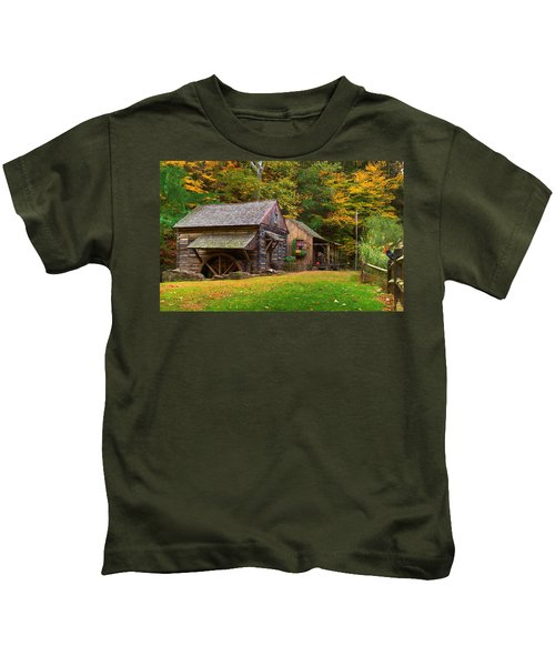 Kids T-Shirt featuring the photograph Fall Down On The Farm by William Jobes