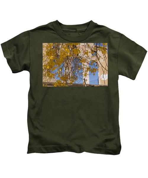 Fall Leaves On Open Windows Jerome Kids T-Shirt
