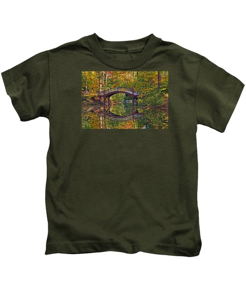 Fall Reflections At Crim Dell Kids T-Shirt