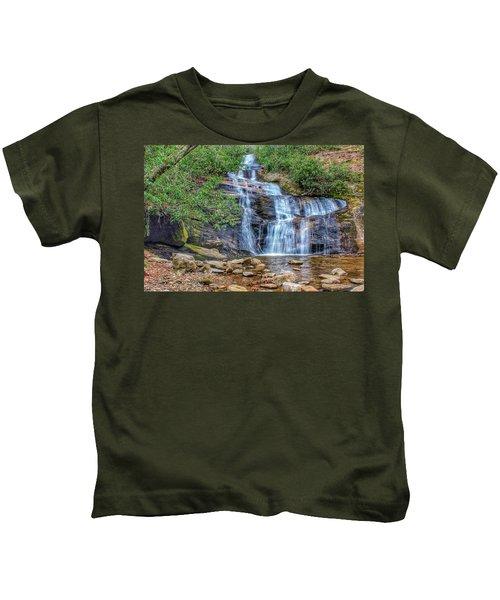 Falling From Mount Mitchell Kids T-Shirt