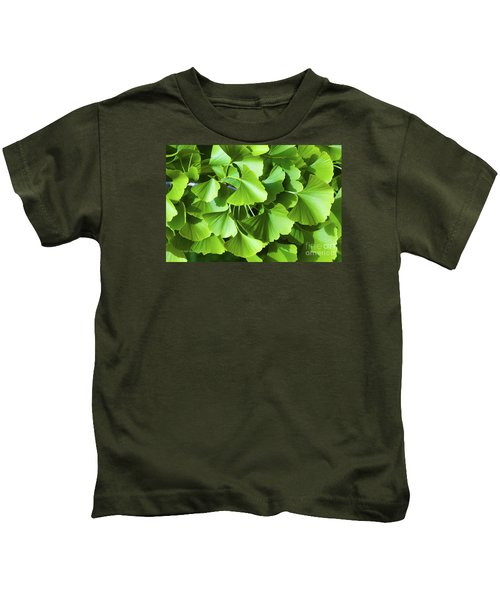 Fan Shaped Leaves Kids T-Shirt