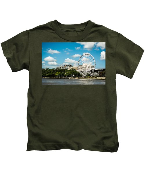 Ferris Wheel On The Brisbane River Kids T-Shirt