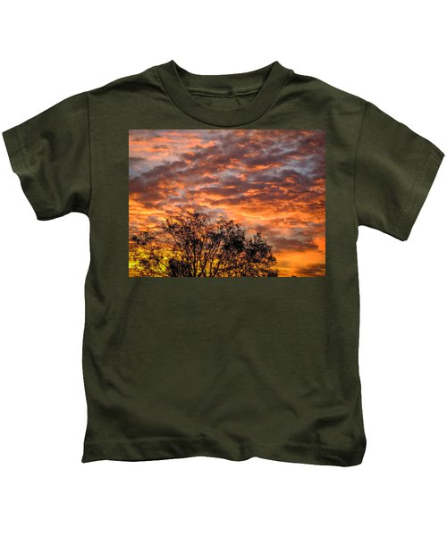 Fiery Sunrise Over County Clare Kids T-Shirt
