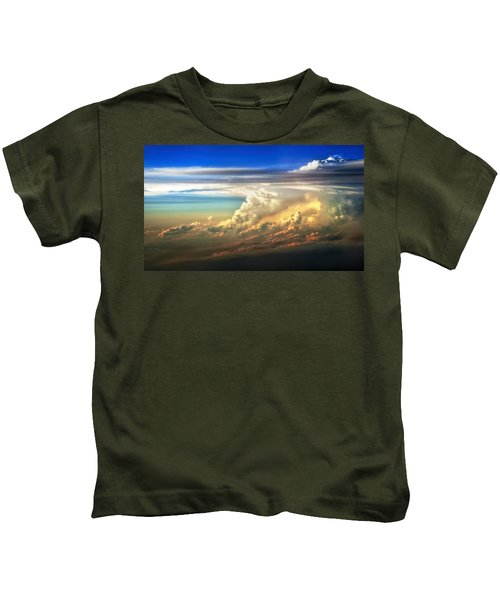 Fire In The Sky From 35000 Feet Kids T-Shirt
