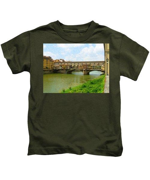 Firenze Bridge Itl2153 Kids T-Shirt