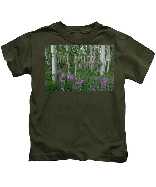 Fireweed And Aspen Kids T-Shirt