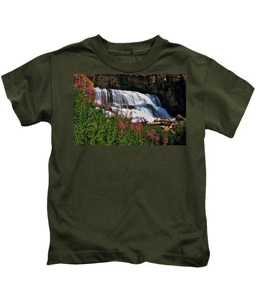 Fireweed Blooms Along The Banks Of Granite Creek Wyoming Kids T-Shirt