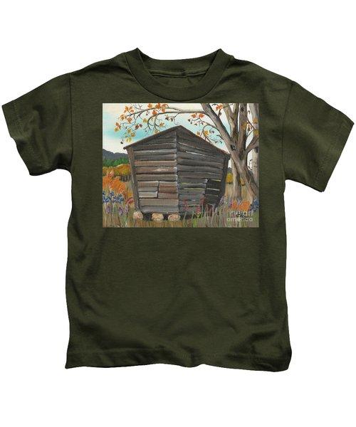 Autumn - Shack - Woodshed Kids T-Shirt