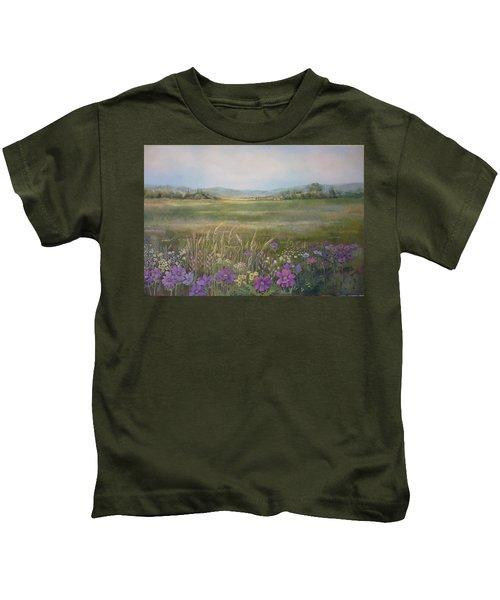 Flower Field Kids T-Shirt