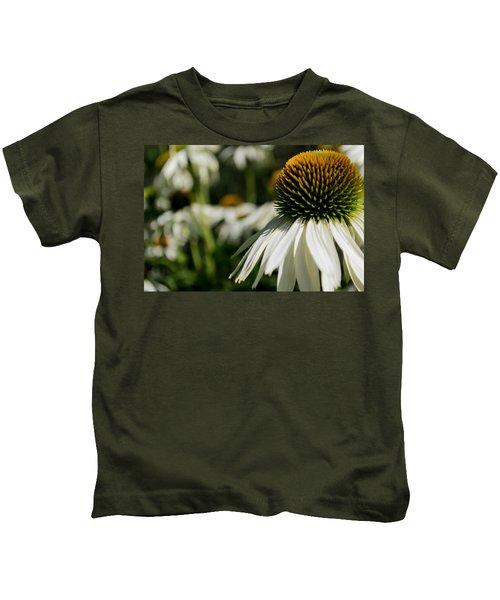 Flowers - Echinacea White Swan Kids T-Shirt