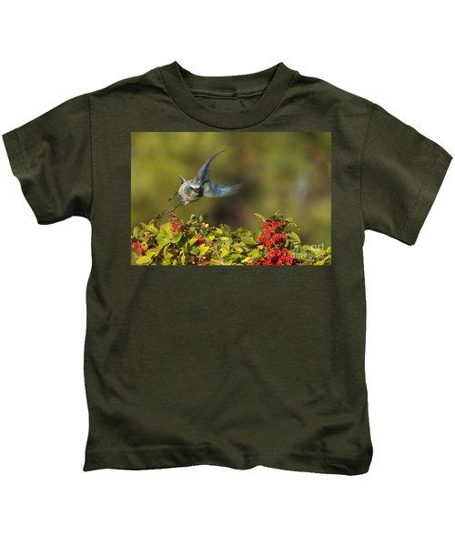 Flying Florida Scrub Jay Photo Kids T-Shirt