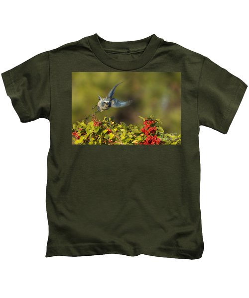 Flying Florida Scrub Jay Photo Kids T-Shirt