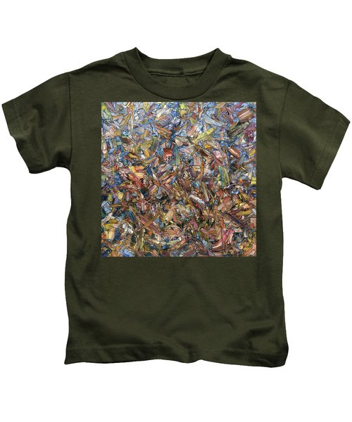 Fragmented Fall - Square Kids T-Shirt