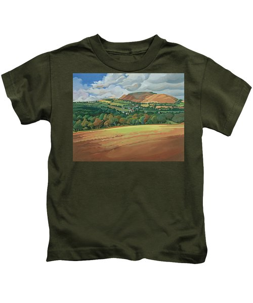 From The Train South Devon, No.2 Oil On Canvas Kids T-Shirt