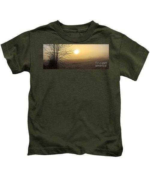 Frosty Sunrise Kids T-Shirt