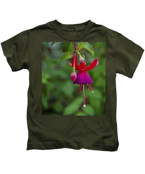 Fuschia Flower Kids T-Shirt