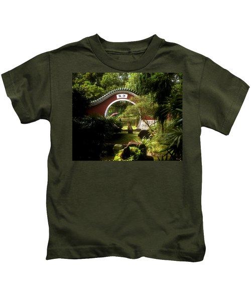 Garden Moon Gate 21e Kids T-Shirt