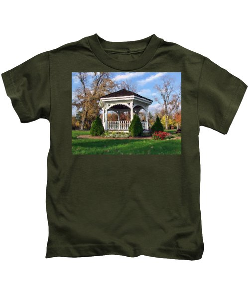 Gazebo At Olmsted Falls - 1 Kids T-Shirt