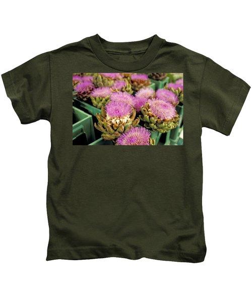 Germany Aachen Munsterplatz Artichoke Flowers Kids T-Shirt by Anonymous