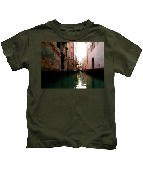 Gliding Along The Canal  Kids T-Shirt