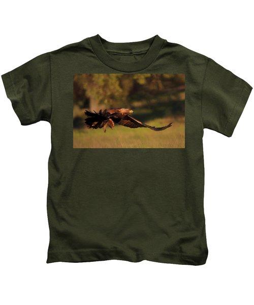 Golden Eagle On The Hunt Kids T-Shirt