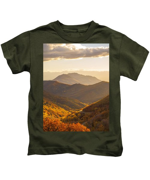 Golden Fall Kids T-Shirt