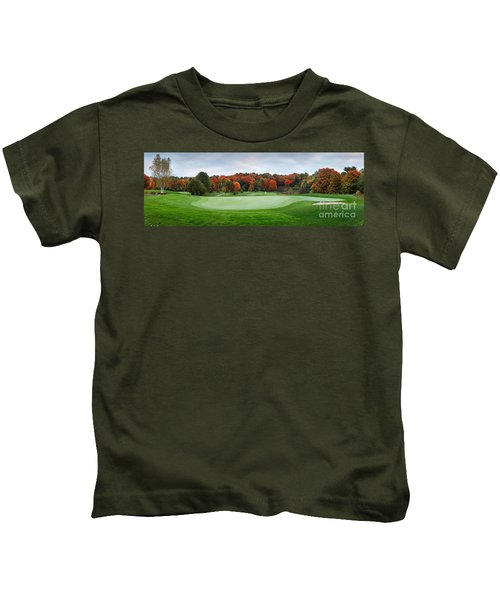 Golf Course Panorama In Fall Kids T-Shirt