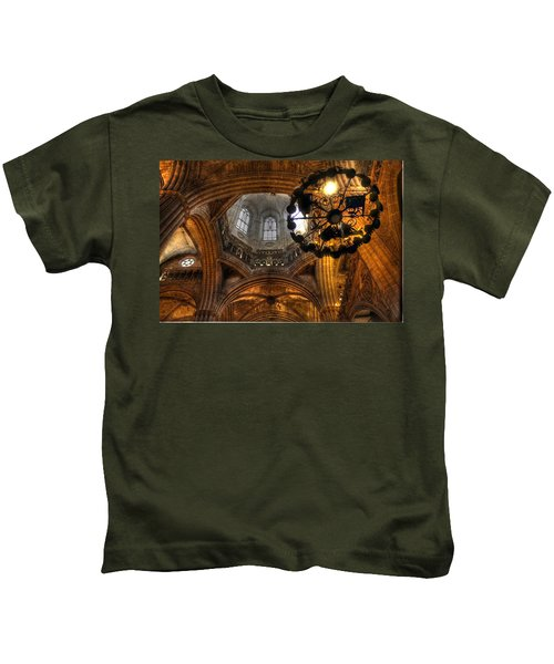 Gothic Cathedral Barcelona Kids T-Shirt