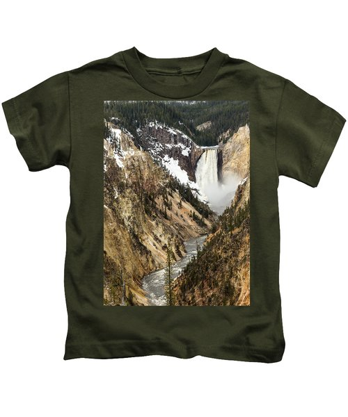 Grand Canyon Of The Yellowstone Kids T-Shirt