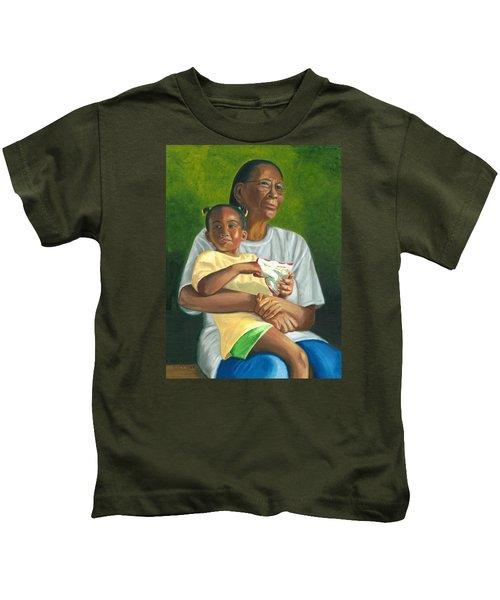 Grandma's Lap Kids T-Shirt
